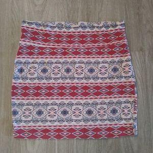 Midi strech skirt tribal print